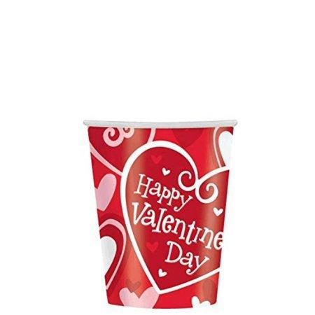 Be Mine Paper Cups 8ct - Amscan