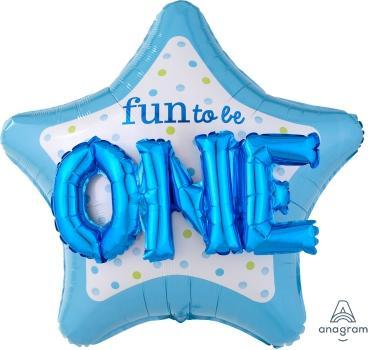 "Supershape Multi 3D Fun To Be One Boy 36"" Balloon - Anagram"