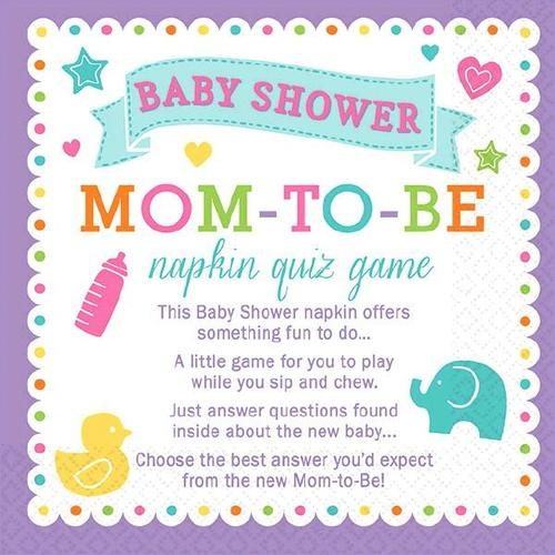 Baby Shower Trivia Napkins