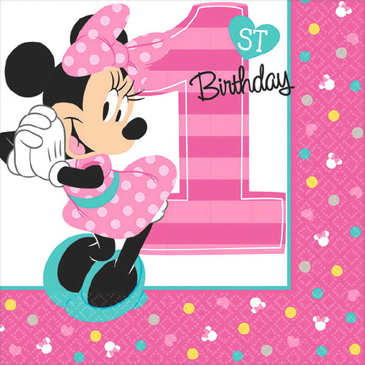 Minnie Fun2B1 Beverage Napkin - Amscan