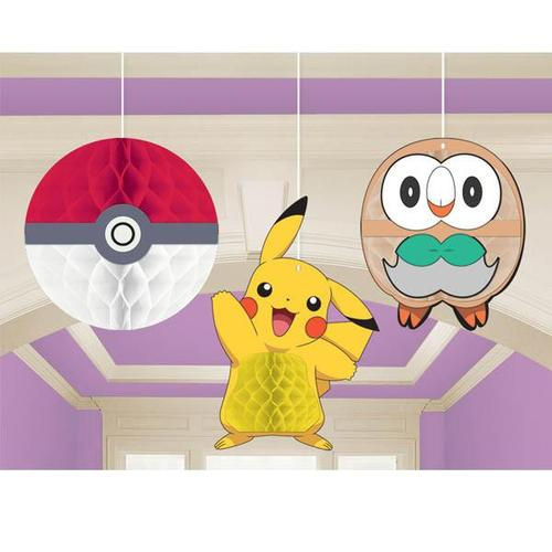 Pokemon Core Honeycomb Decorations - Amscan