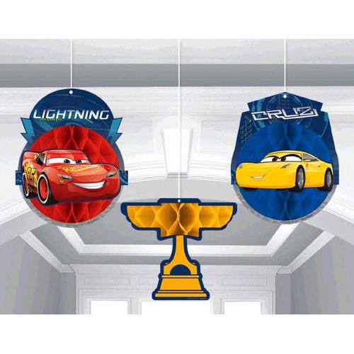 Cars 3 Honeycomb Decorations - Amscan