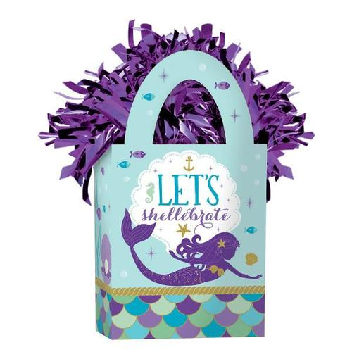 Mermaid Wishes Mini Tote Balloon Weight - Amscan