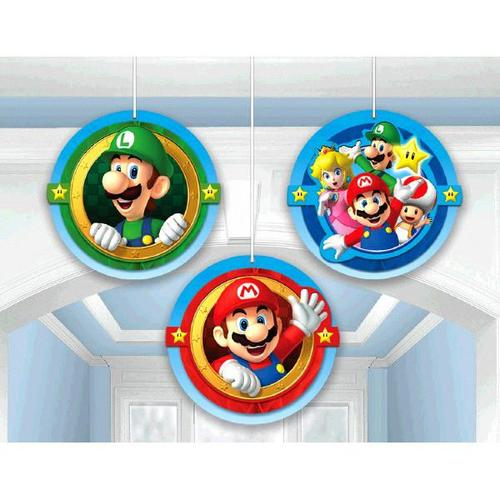 Super Mario Brothers Honeycomb Decorations - Amscan