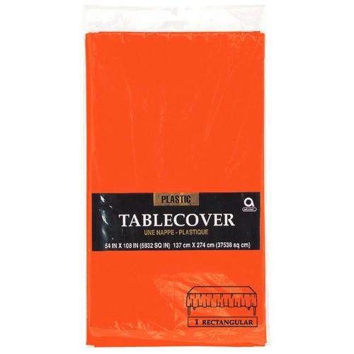 "Orange Peel 54""X108"" Plastic Table Cover - Amscan"