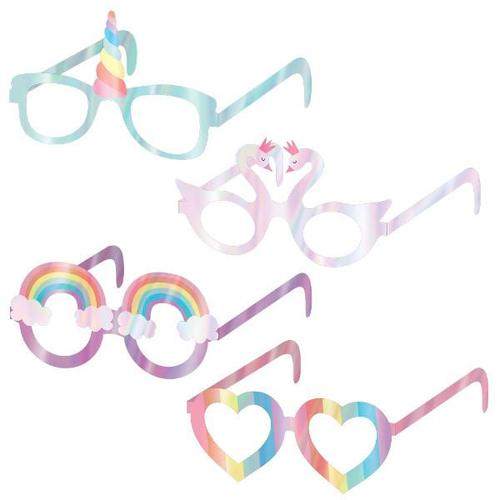 Magical Rainbow Glasses Foil 8ct - Amscan