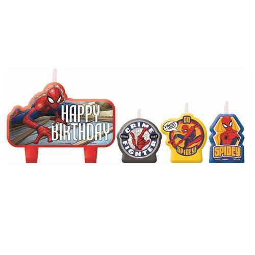 Spider Man Webbed Wonder Candle Set - Amscan