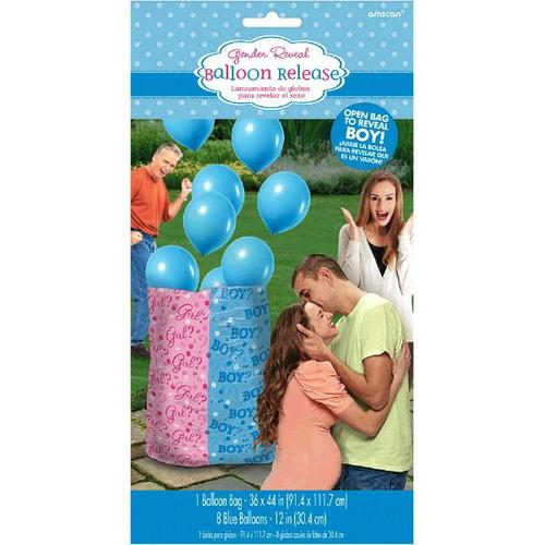 Gender Reveal Balloon Gift Sack Boy - Amscan
