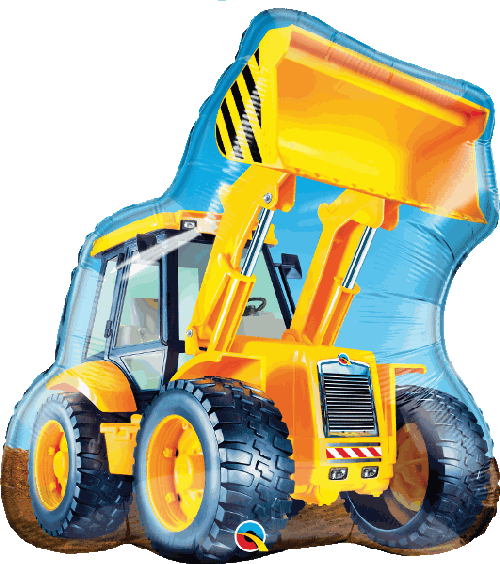 "Supershape Construction Loader 32"" Balloon - Qualatex"
