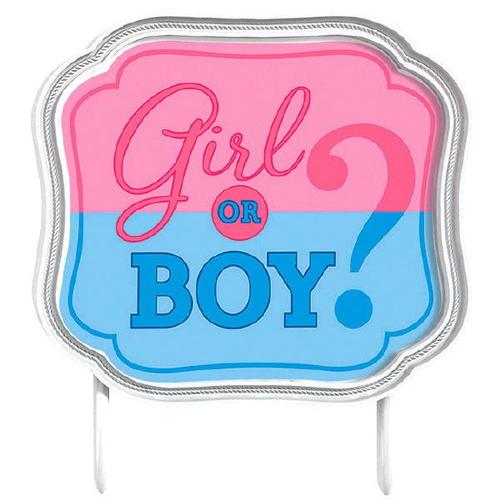 Girl or Boy Cake Topper - Amscan