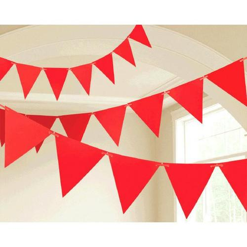 Apple Red Paper Pennant Banner - Amscan