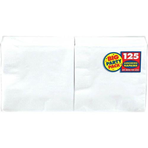 Frosty White Lunch Napkin 125ct - Amscan