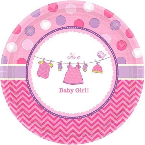 "Shower Girl 7"" Round Plate - Amscan"