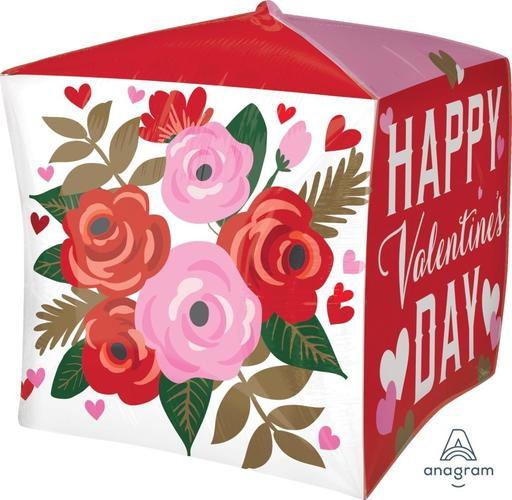 "Cubez Happy Valentine's Day Rose Bouquet 15"" Balloon"