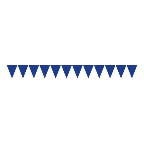 Mini Paper Pennant Banner Royal Blue - Amscan