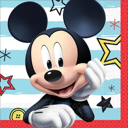 Mickey On The Go Beverage Napkin - Amscan