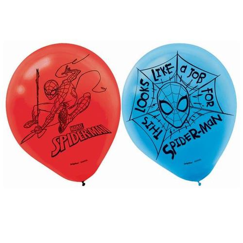 "Spider Man Latex Balloons 12"" - Amscan"