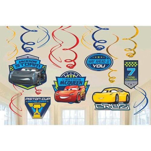 Cars 3 Swirl Decorations - Amscan
