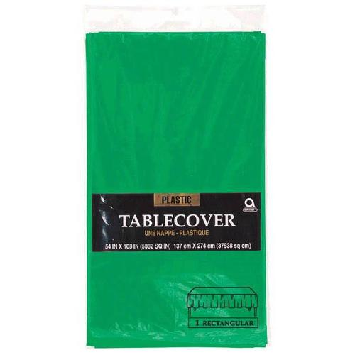 "Festive Green 54""x108"" Plastic Table Cover - Amscan"