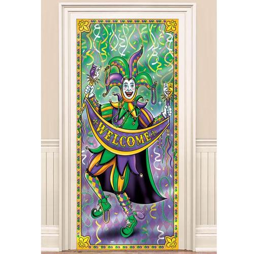 Mardi Gras Door Curtain - Amscan