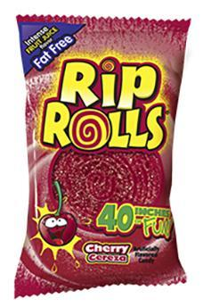 Rip Rolls Cherry 24/1.4oz - Foreign Candy Company