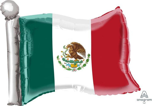 "Supershape Mexican Flag 22"" Balloon"