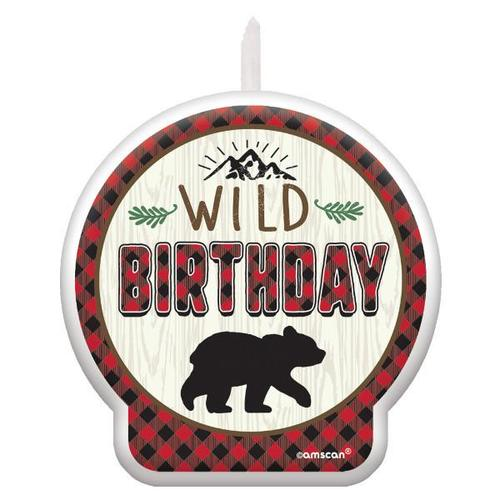 Little Lumberjack Birthday Candle - Amscan