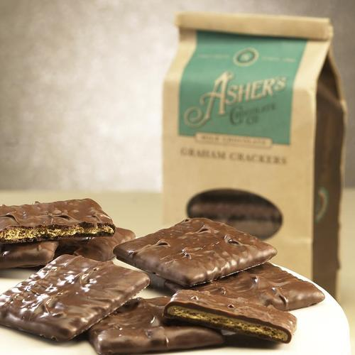 Ashers Mini Graham Cracker 12/6oz - Ashers Chocolate