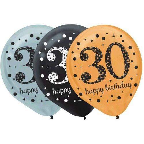 Sparkling Celebration 30th Latex Balloons 15ct