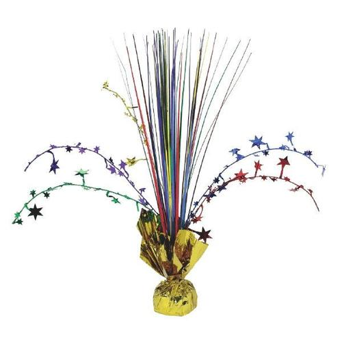 Rainbow Foil Spray Centerpiece - Amscan
