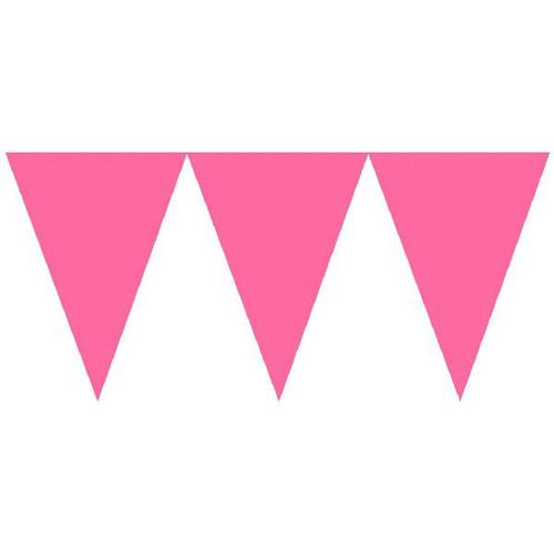 Bright Pink Paper Pennant Banner - Amscan