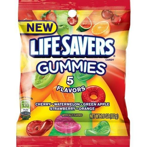 LifeSavers 5 Flavors Gummies 12/3.6oz - Wrigley