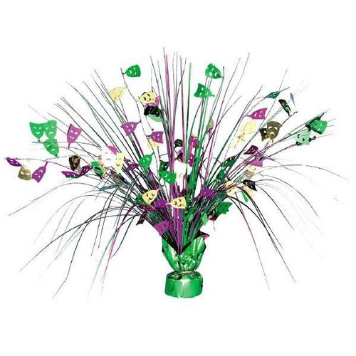 Mardi Gras Foil Spray Centerpiece - Amscan