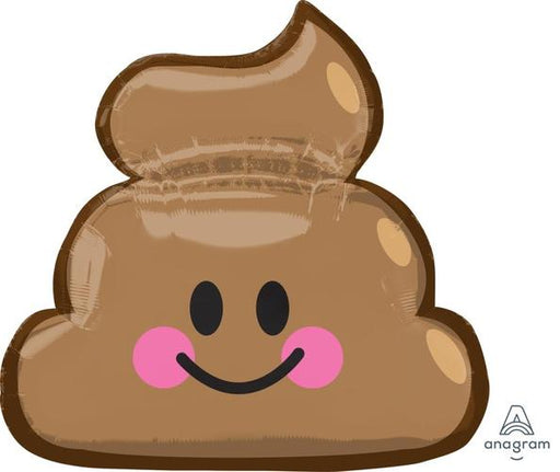 "Supershape Emoticon Poop 25"" Balloon - Anagram"