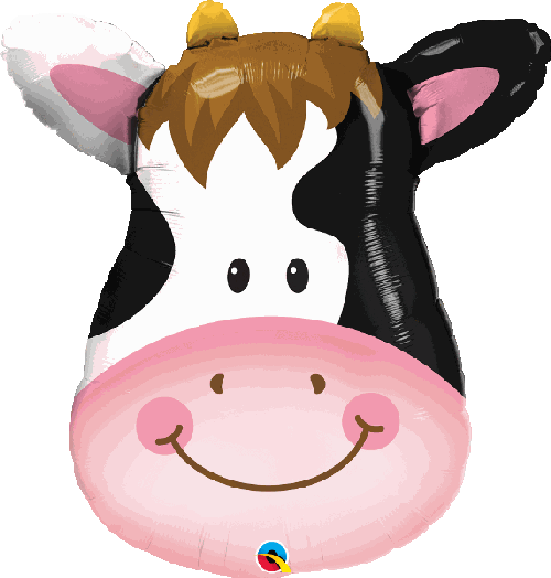 "Supershape Contented Cow 32"" Balloon - Qualatex"