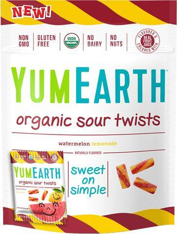 Organic Sour Twists 12/2 oz bags - YumEarth
