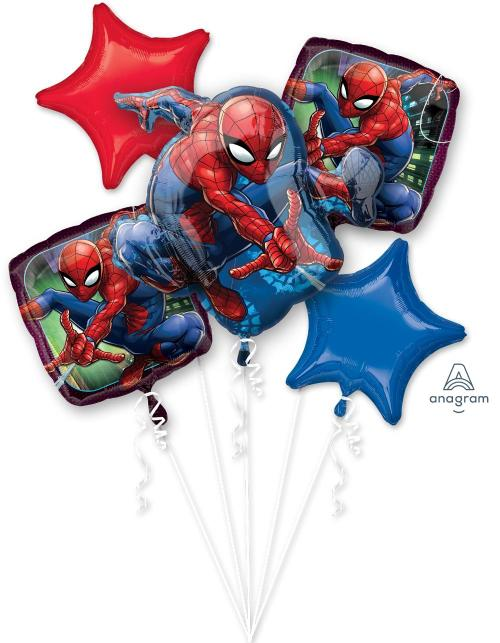 Spider Man Web Balloon Bouquet