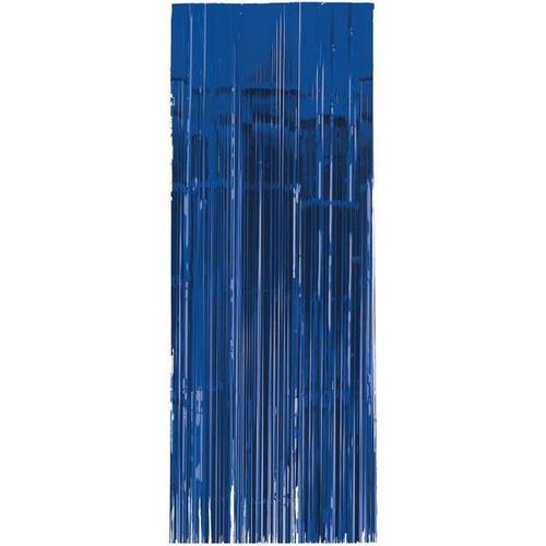 Bright Royal Blue Metallic Curtain - Amscan