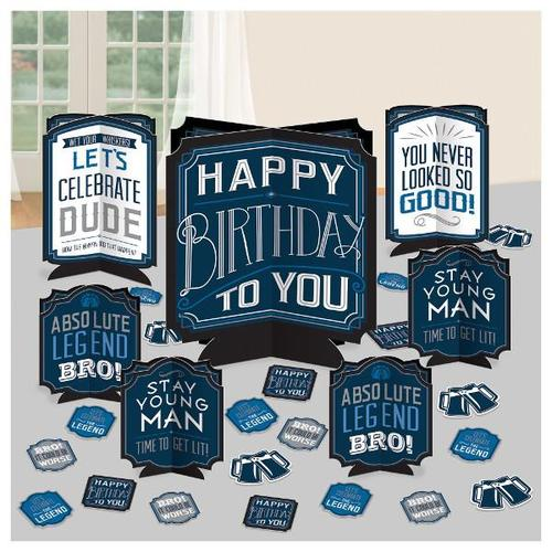 Happy Birthday Man Table Centerpiece Decorating Kit - Amscan