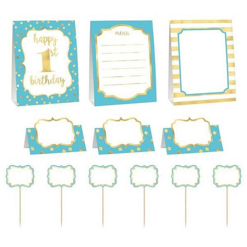 1St Bday Blue Buffet Deco Kit - Amscan