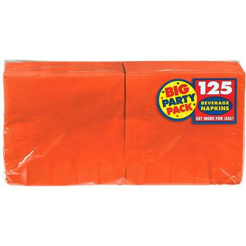 Orange Peel Beverage Napkin 125ct - Amscan