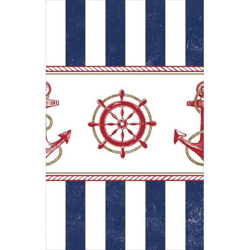 Nautical Plastic Table Cover - Amscan
