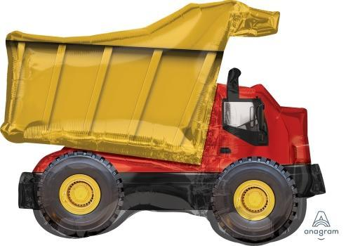 "Supershape Dump Truck 32"" Balloon - Anagram"