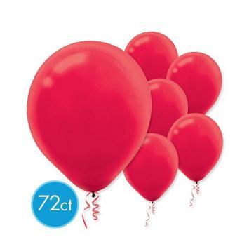Latex Balloons 72ct Apple Red - Amscan