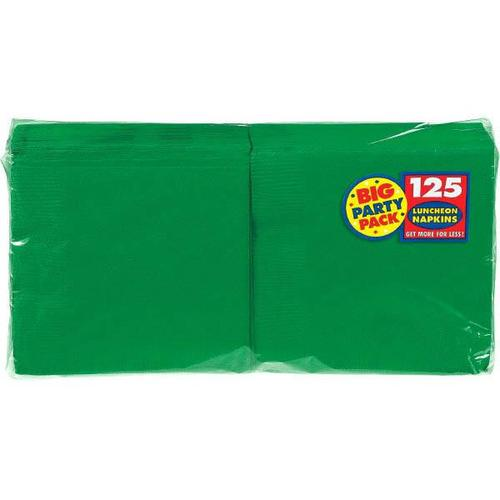 Festive Green Lunch Napkin 125ct - Amscan