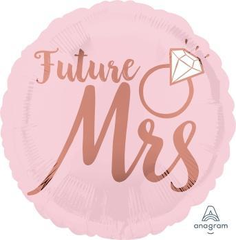 "17"" Blush Wedding Foil Balloon - Flat - Anagram"