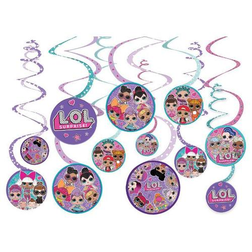 LOL Surprise Swirl Decorations 12ct - Amscan