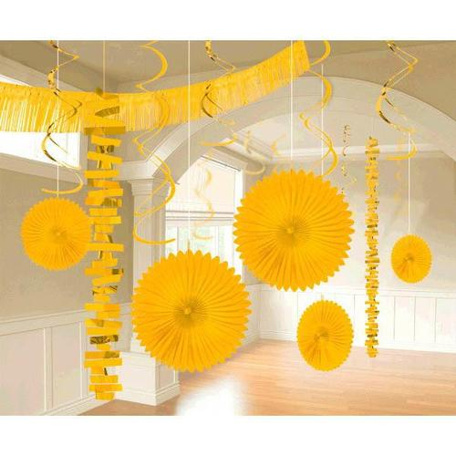 Yellow Sunshine Paper & Foil Decorating Kits 18ct - Amscan