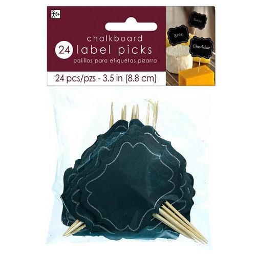 Chalkboard Label Picks Small 24ct - Amscan