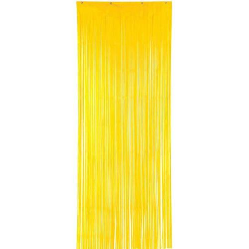 Yellow Sunshine Plastic Curtain - Amscan